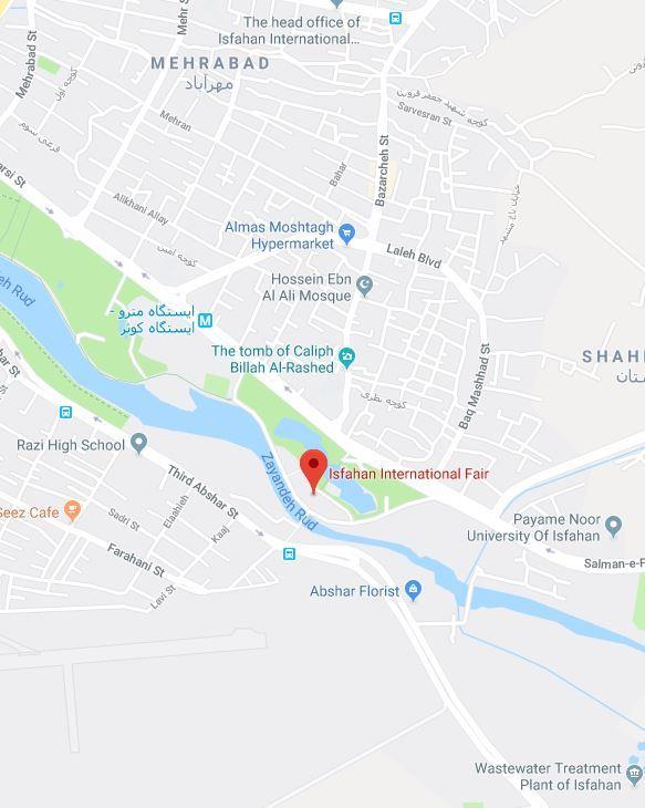 اصفهان - پل شهرستان - محل دائمی نمایشگاه های بین المللی اصفهان