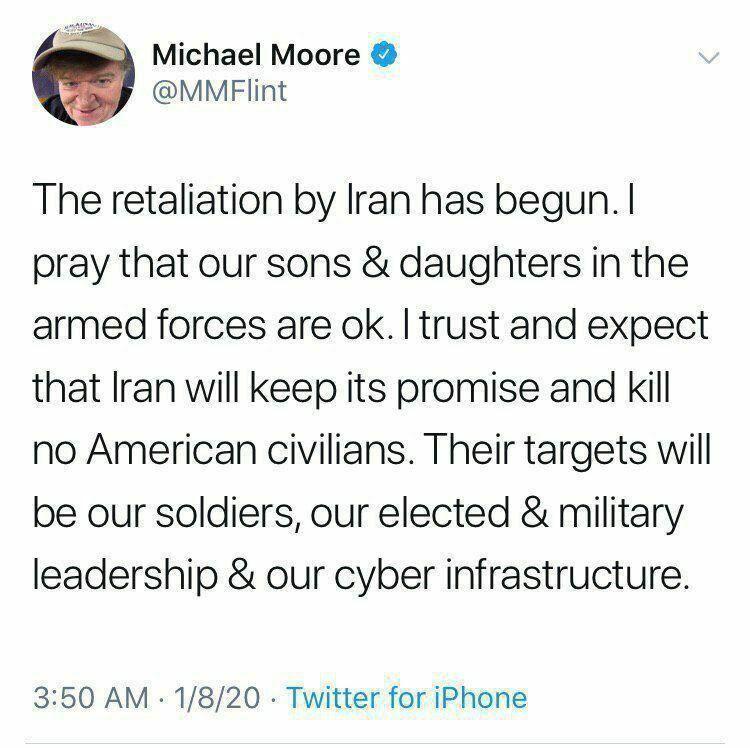واکنش مایکل مور مستندساز معروف آمریکایی