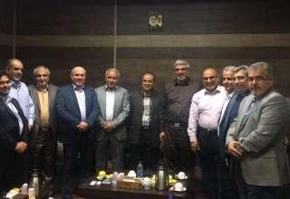 دیدار مسئولین حوزه بسیج اصناف شهید صفار هرندی با سردار کاظمینی
