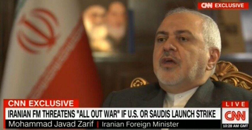 ظریف: اقدام نظامی علیه ایران، به «جنگ تمام عیار» منجر میشود