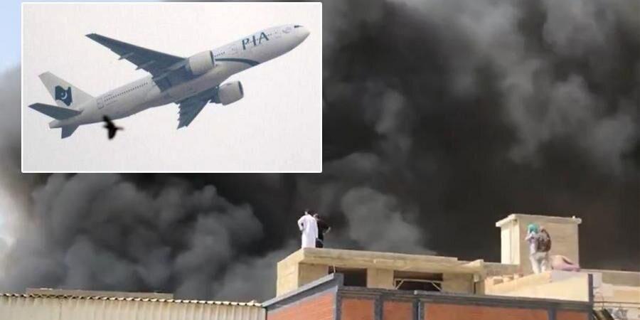 سقوط هواپیمای مسافربری در نزدیکی فرودگاه کراچی/نقص فنی علت سقوط هواپیمای مسافربری پاکستانی اعلام شد