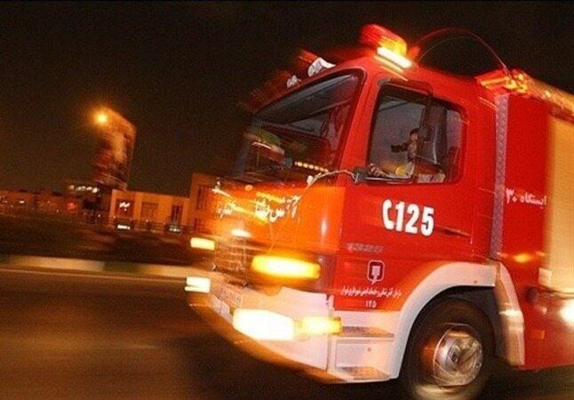 انفجار و آتشسوزی در یک پمپبنزین خیابان پیروزی+فیلم