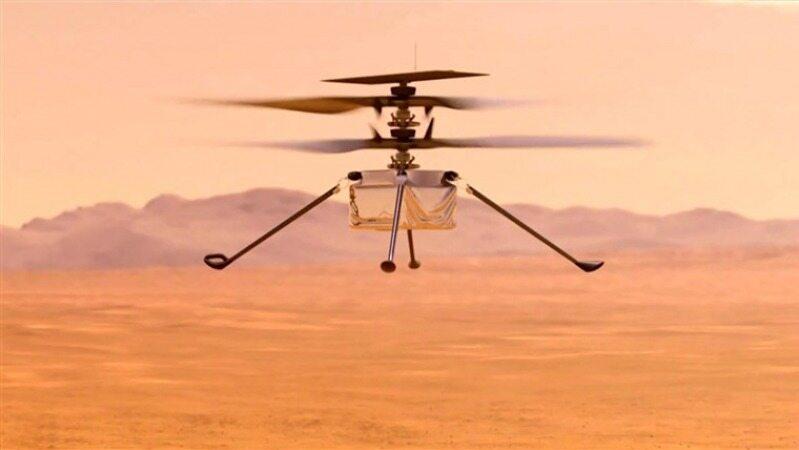 پرواز هلیکوپتر ناسا برای بار سوم در مریخ