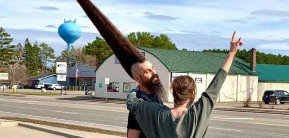 بلندترین مدل موی موهاک که در گینس ثبت شد