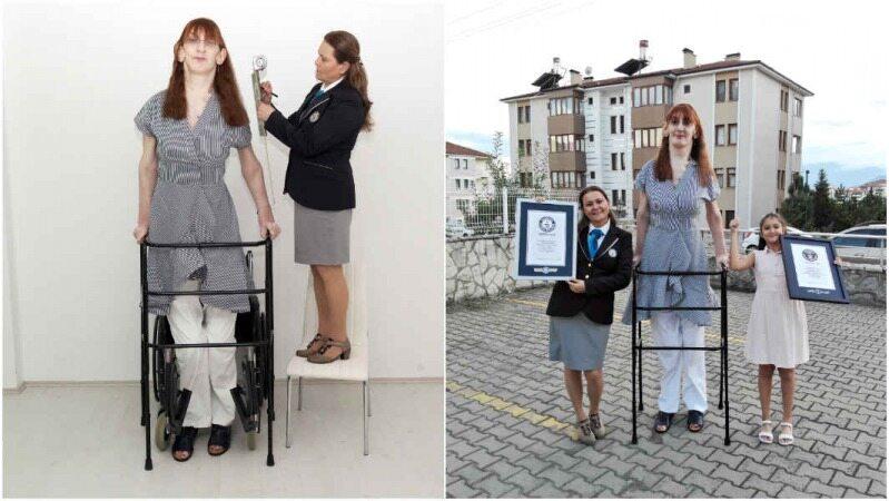 قدبلندترین زن جهان شناخته شد